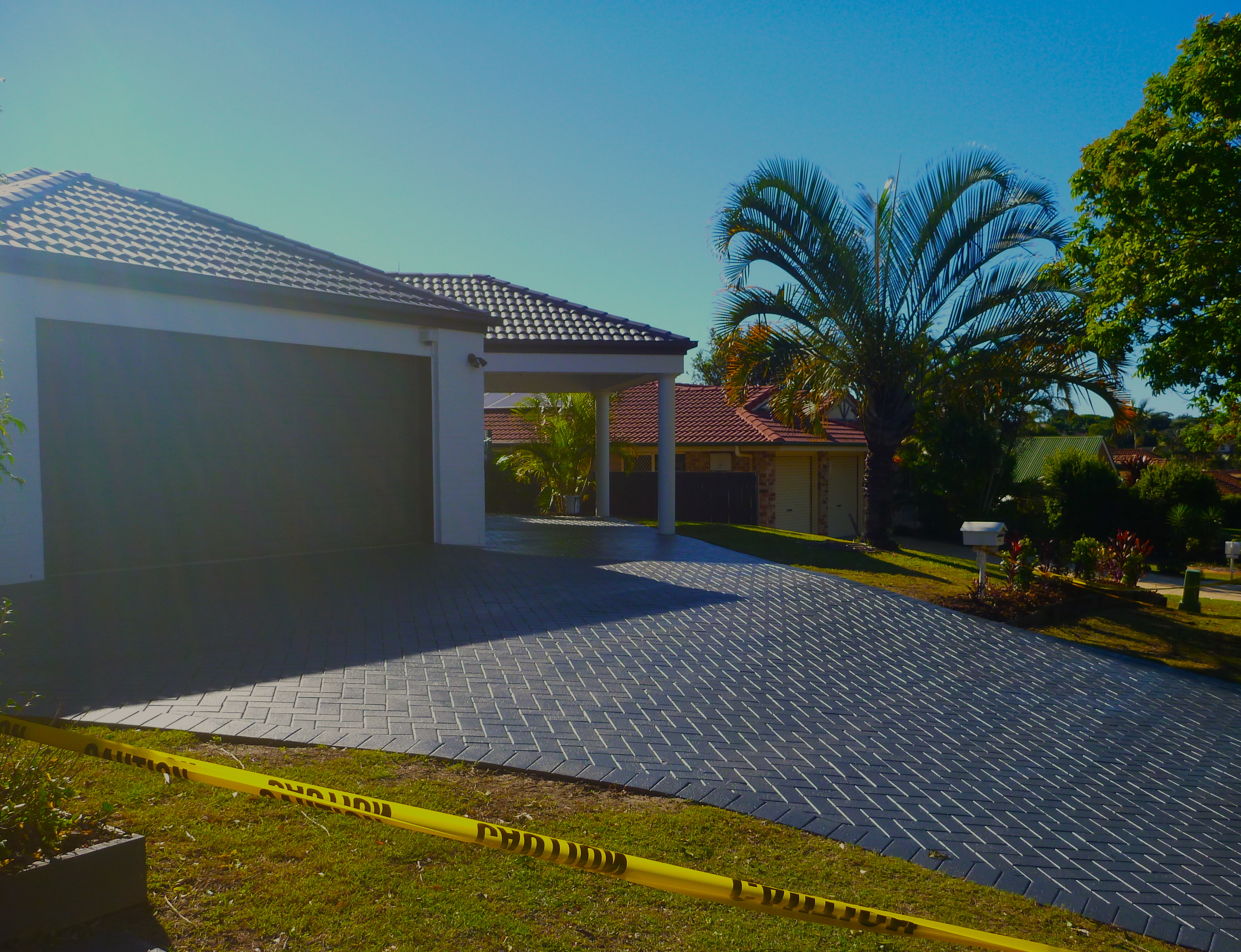 roof restoration after, driveway painting